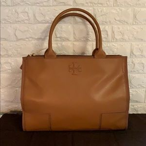 NWOT TORY BURCH COGNAC LEATHER TOTE